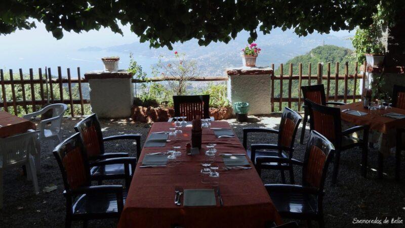 Restaurante Santuario Montallegro Rapallo.