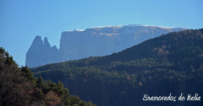 Las Dolomitas como se ven desde Soprabolzano
