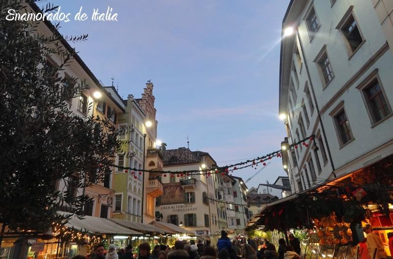 Mercado navidad Plaza Erbe Bolzano.