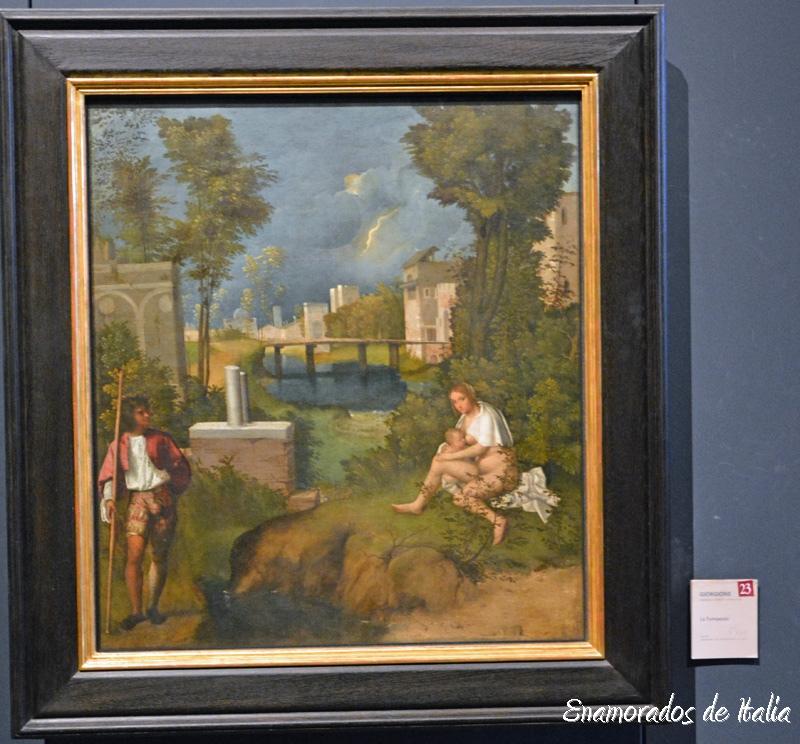 La Tempestad, Giorgione, Gallerie dell'Accademia, Venezia.