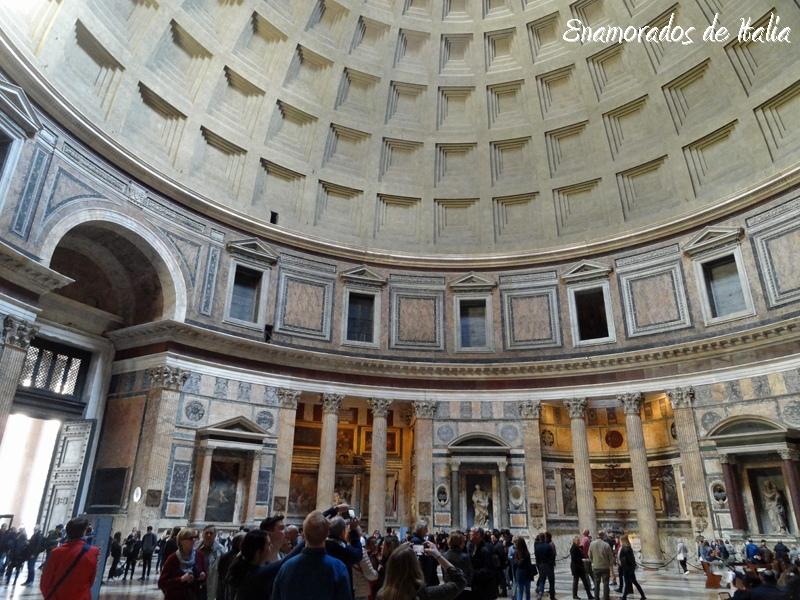 interior del Panteón de Roma.