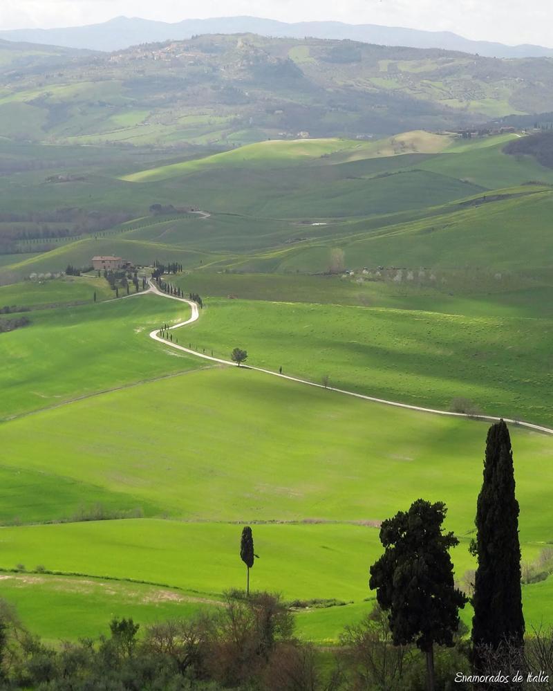 La Toscana de Postal, Pienza.