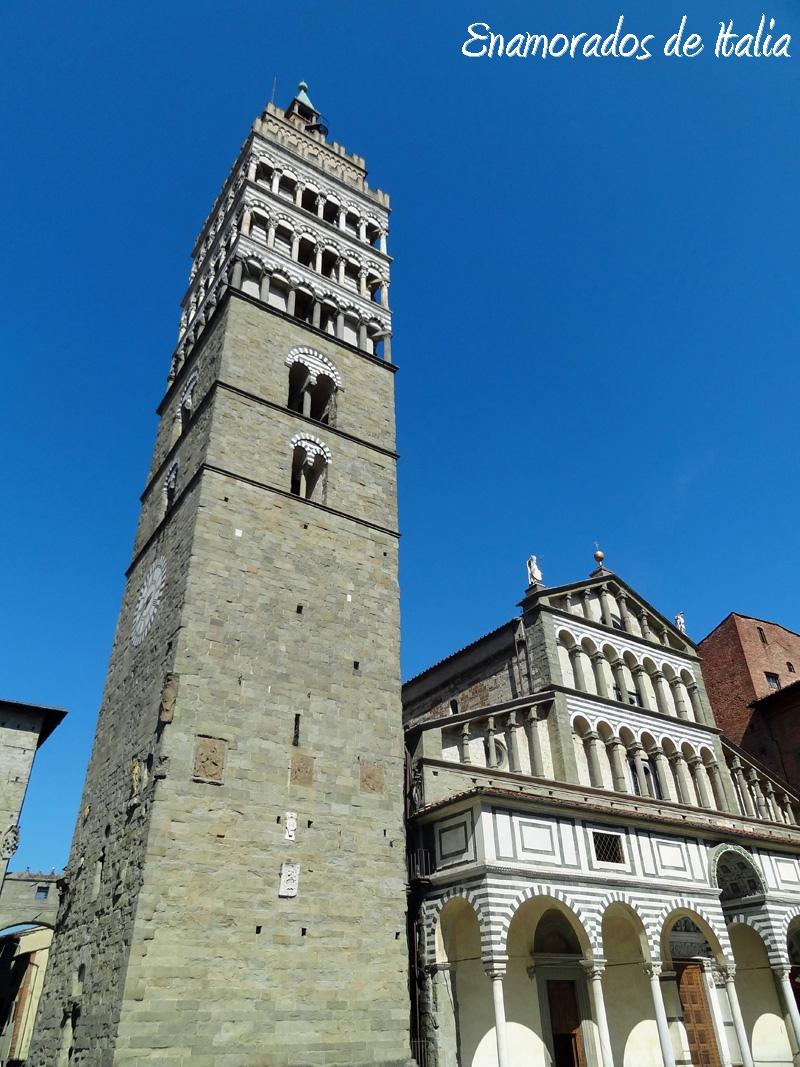 Campanario y Catedral de San Zeno, Pistoia.