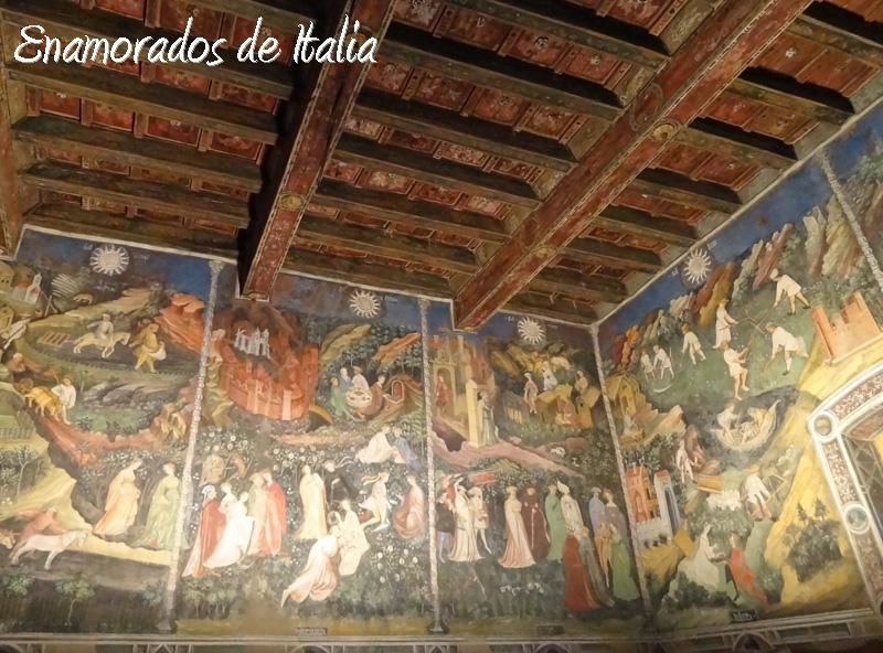 ciclo de los meses, Torre Aquila, Castillo del Buonconsiglio, Trento.