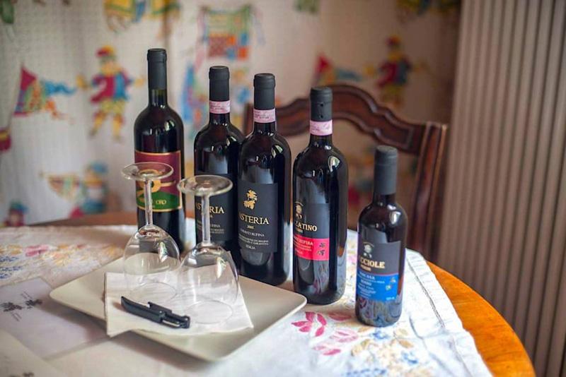 vinos del agriturismo Il Pezzatino