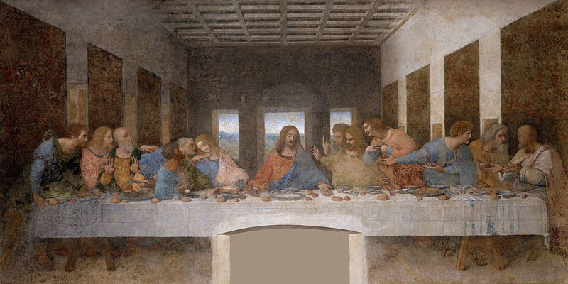 La Última Cena de Leonardo da Vinci,