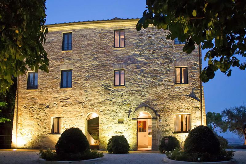 fachada del boutique hotel Poggio Piglia, Toscana