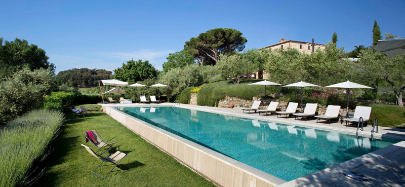 infinity pool, Poggio Piglia, Toscana
