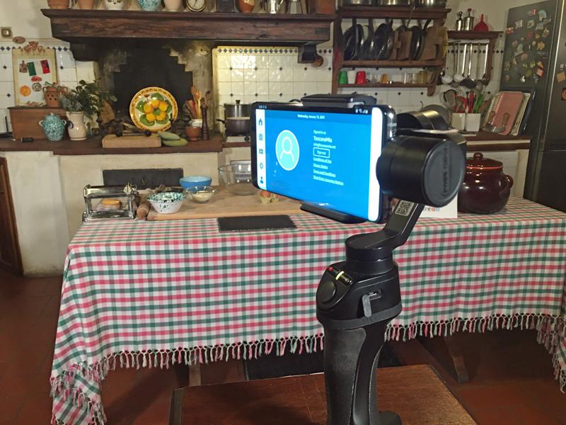 listos para una clase de cocina virtual Toscana Mia