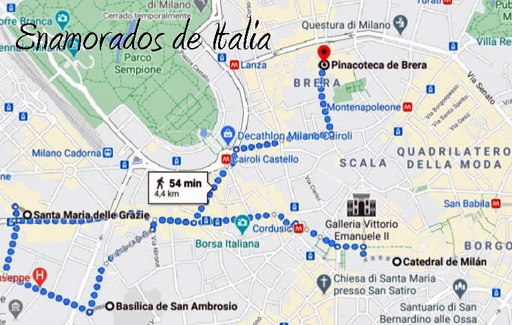 mapa Milan 48 horas