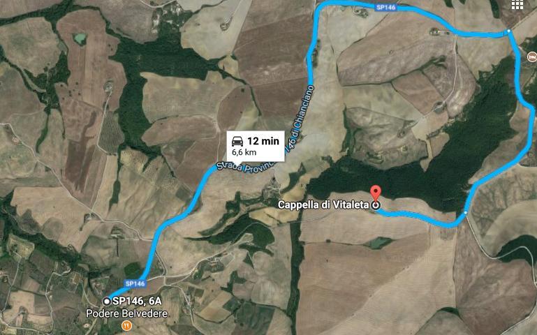 Itinerario da Vitaleta a Podere Belvedere