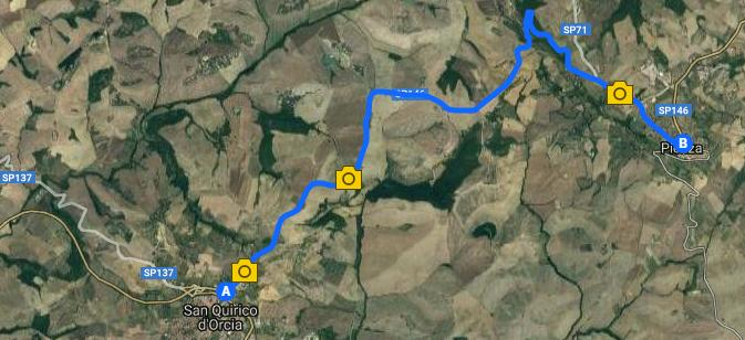 Itinerario de Pienza a San Quirico, Val d'Orcia