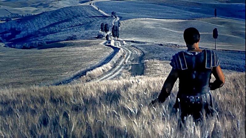 La Toscana de Postal. Gladiator fotograma, escena en Pienza.