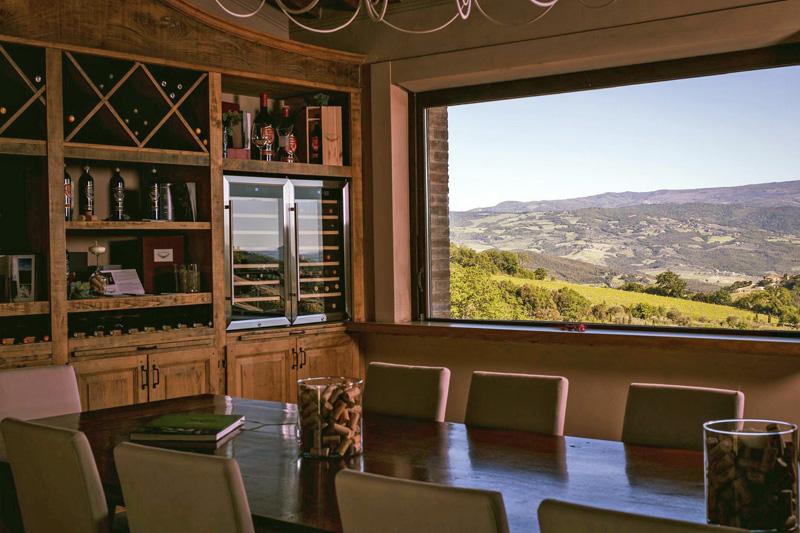 cata de vinos con vistas San Polo Montalcino